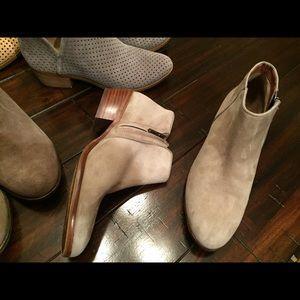 Sam Edelman suede booties boots nude Lucky BCBG